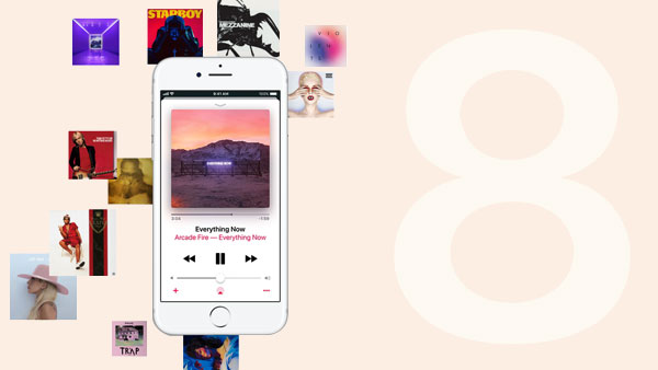 Apple Music auf iPhone 8 spielen