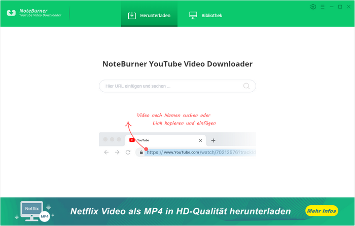 YouTube Video Downloader starten